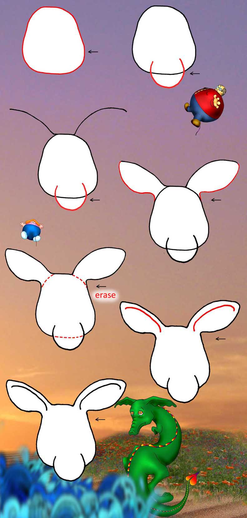 Scroll Down To Read : How To Draw A Kangaroo Face By Lynn Abbey