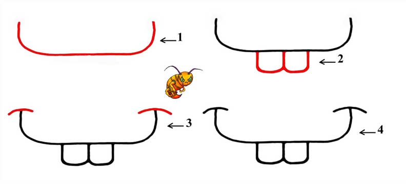 how to draw lips step by step for kids