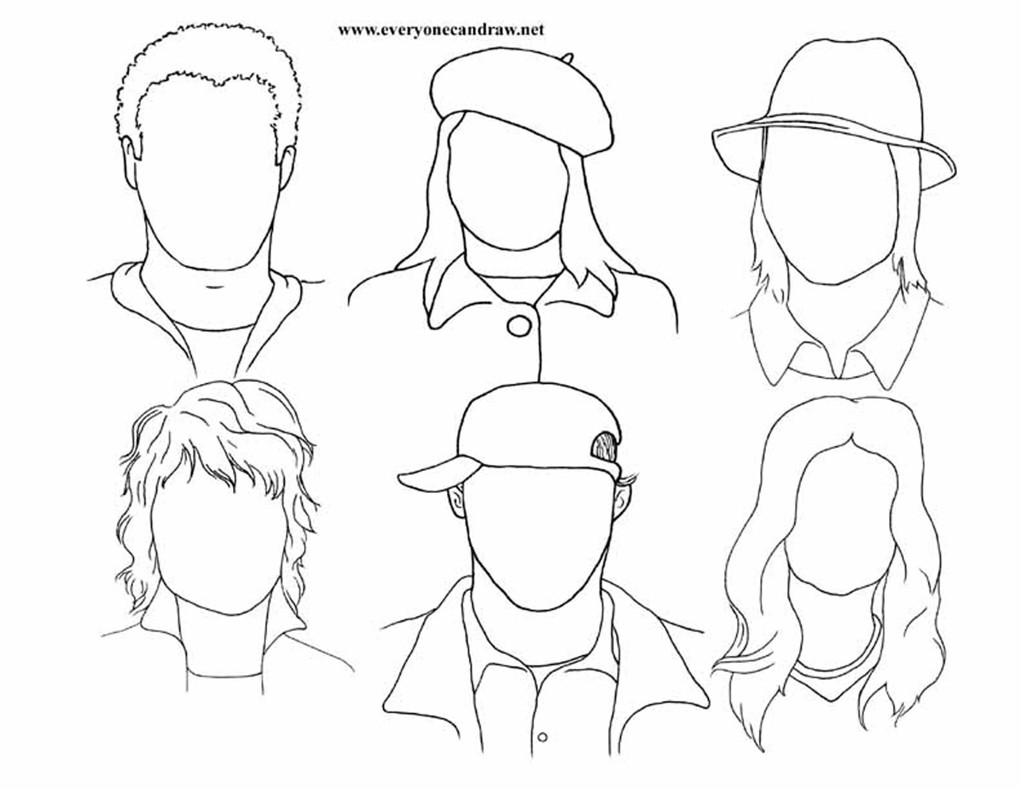 Line Drawing Step By Step : Portrait drawings step by instructions