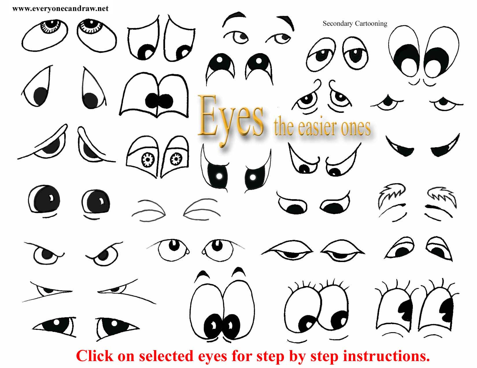 how to draw funny eyes