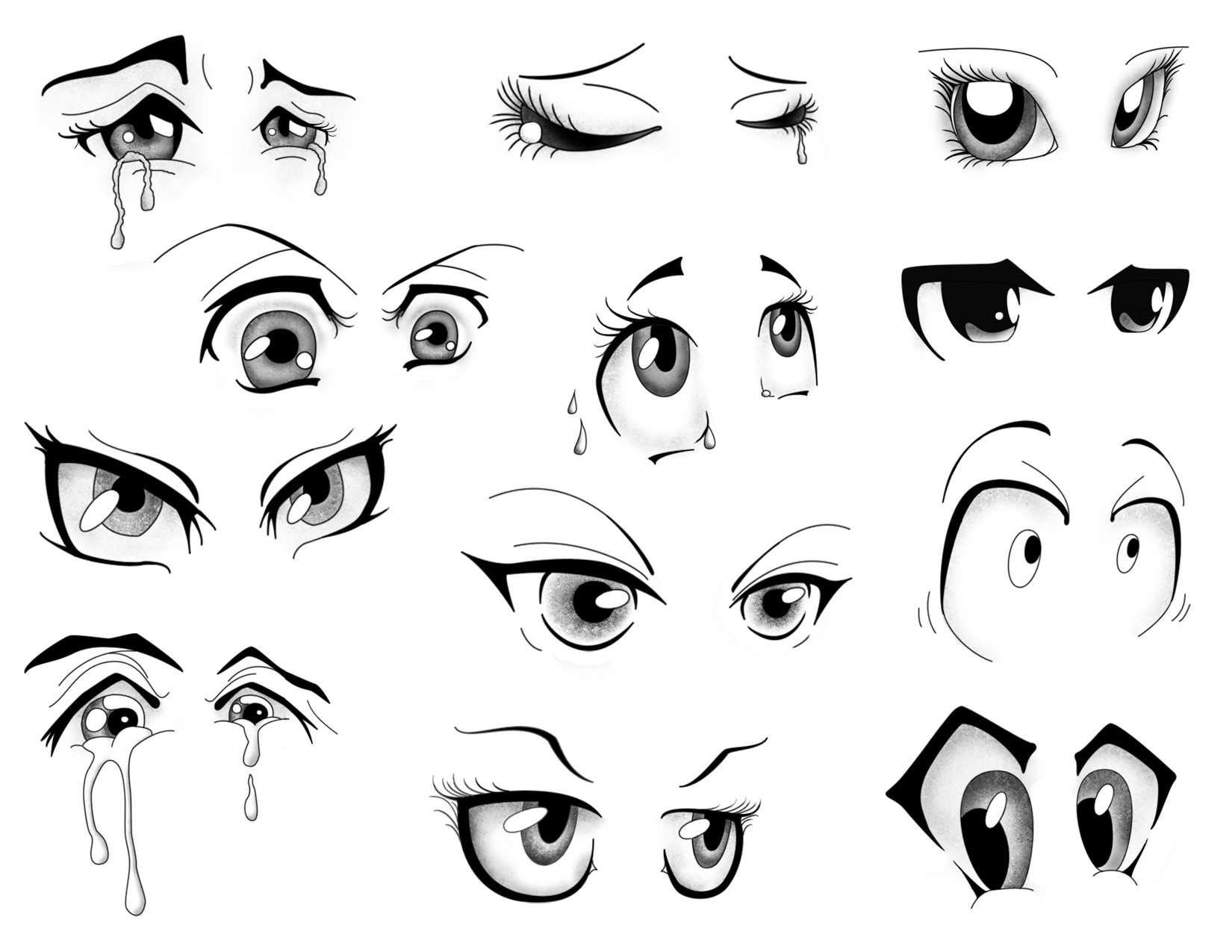 Cartoon Eyes, Mix And Match To Create Your Own Cartoons How To Draw How To