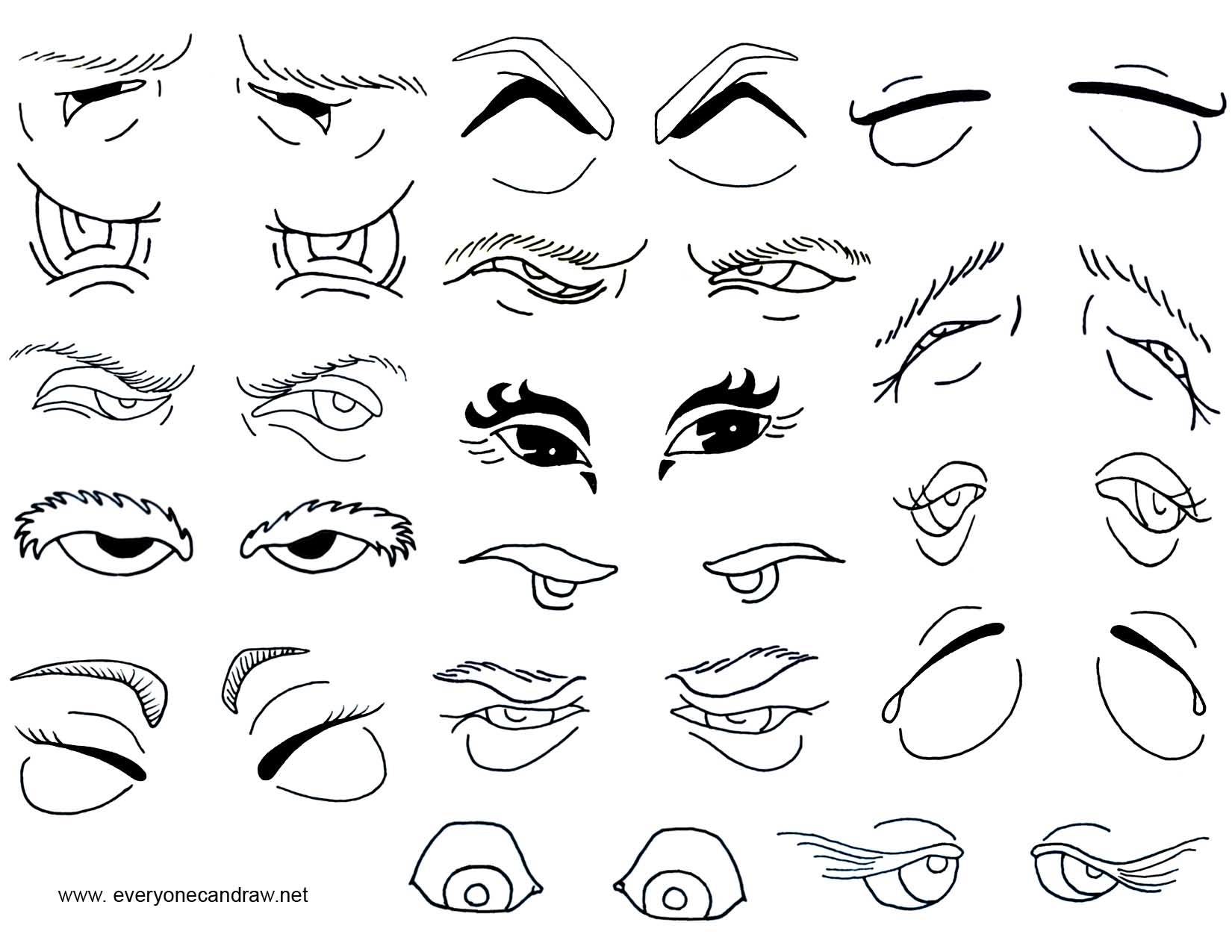 Uncategorized How To Draw Cartoon Eyes cartoon eyes mix and match to create your own cartoons eyes