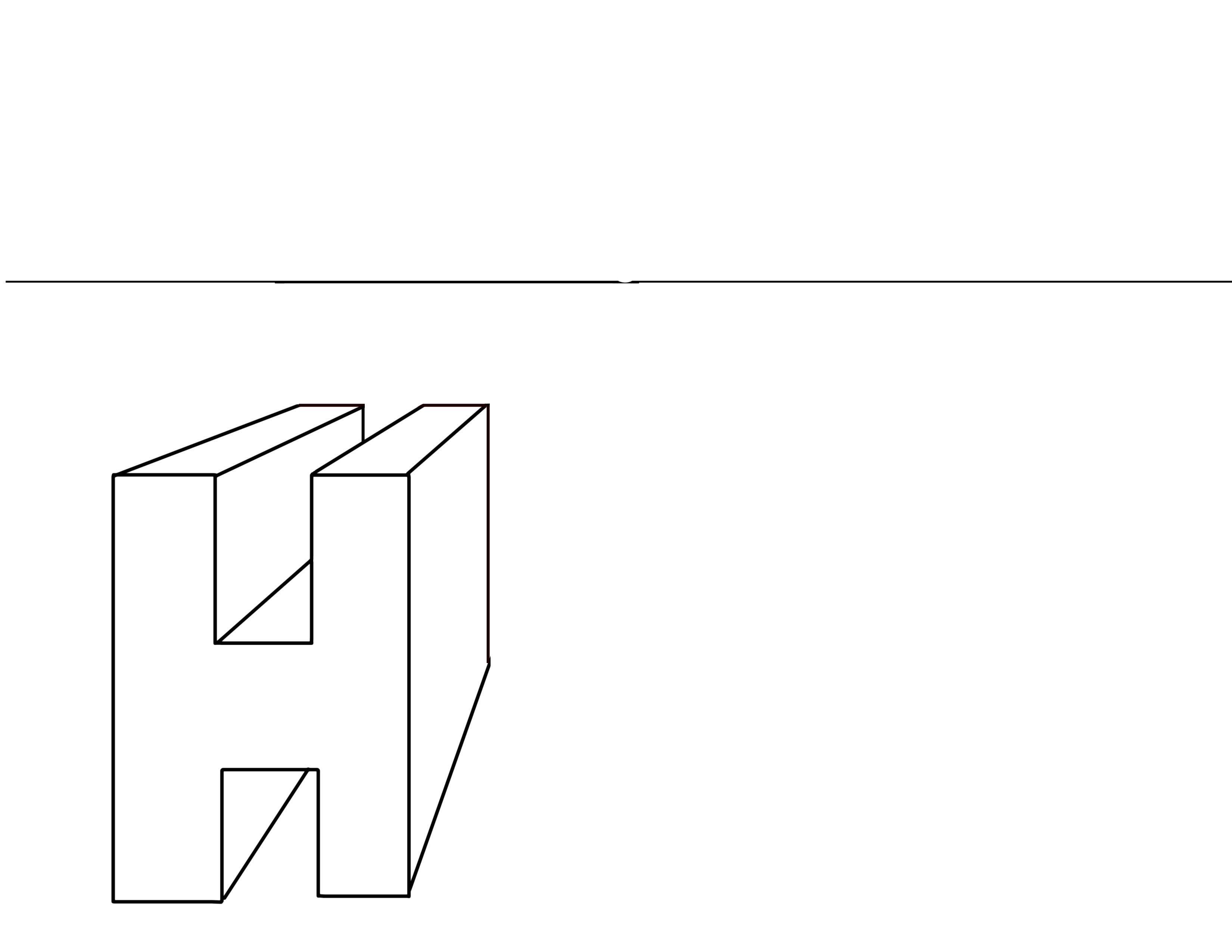 one point perspective H 3a