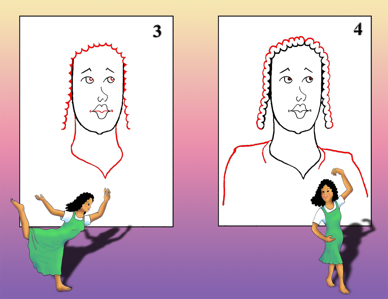 girl with braids lesson page 2
