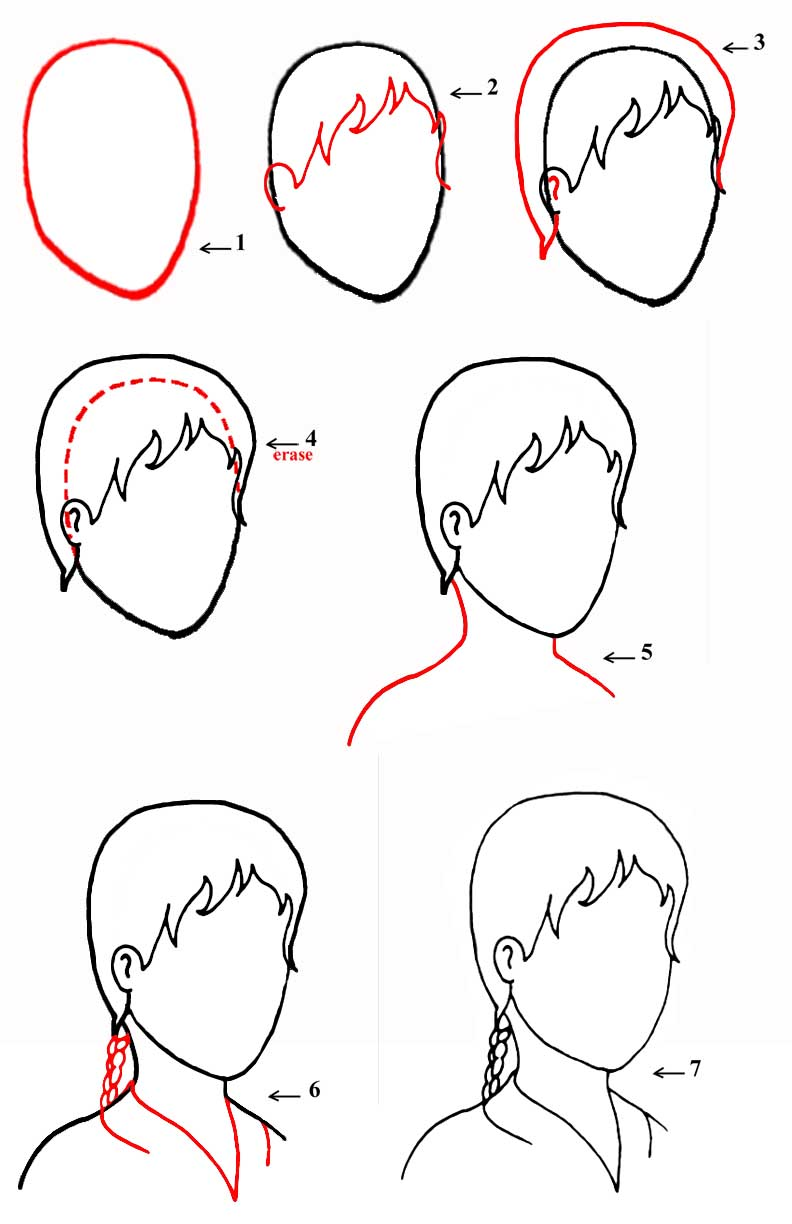how to draw 3 4 view face