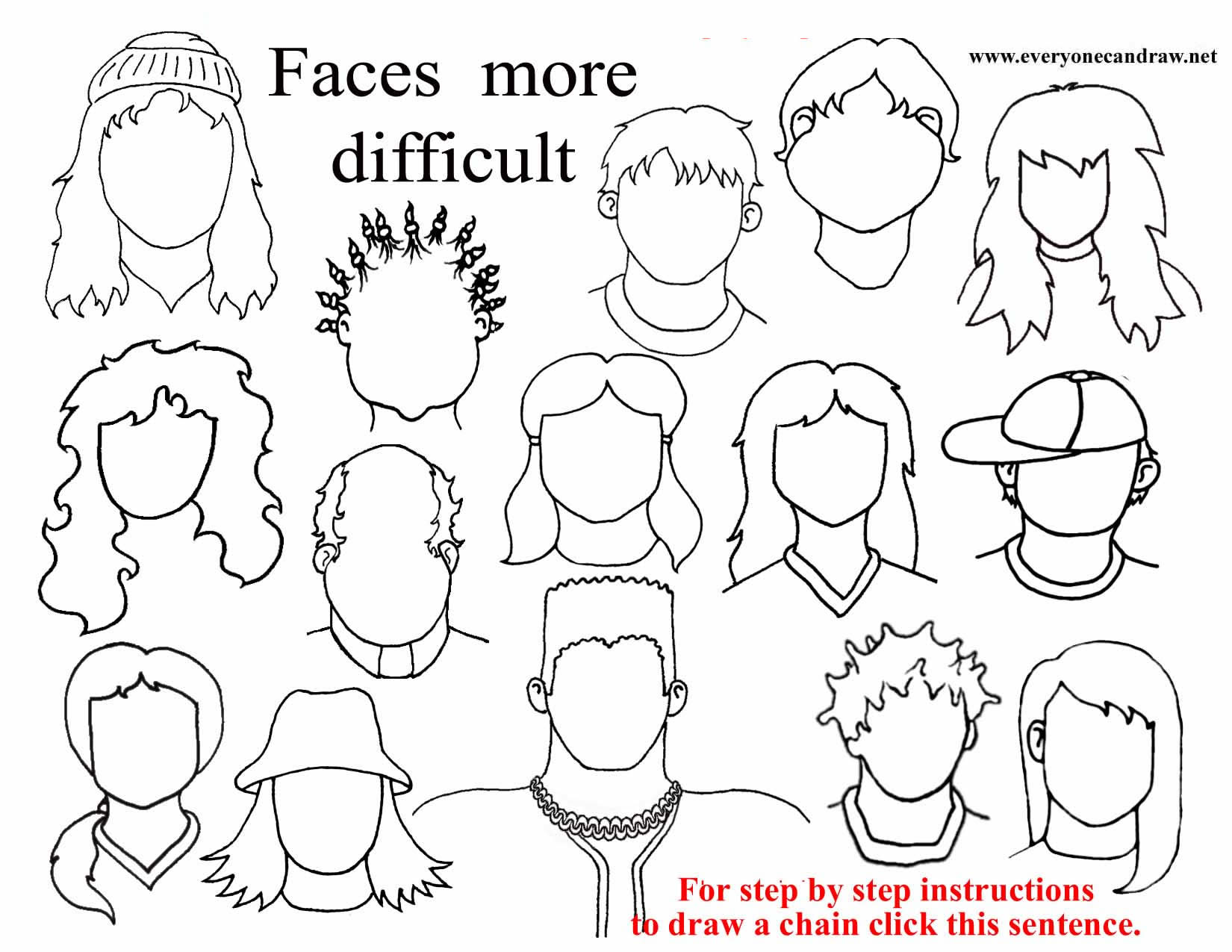 Line Drawing Of Cartoon Face : How to draw cartoon faces
