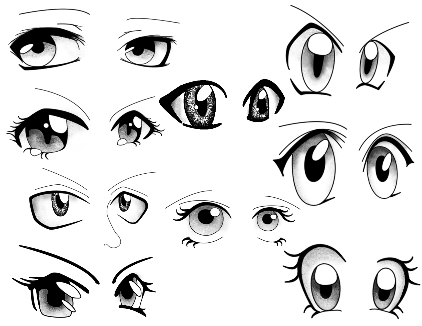 Cartoon Eyes Mix And Match To Create Your Own Cartoons