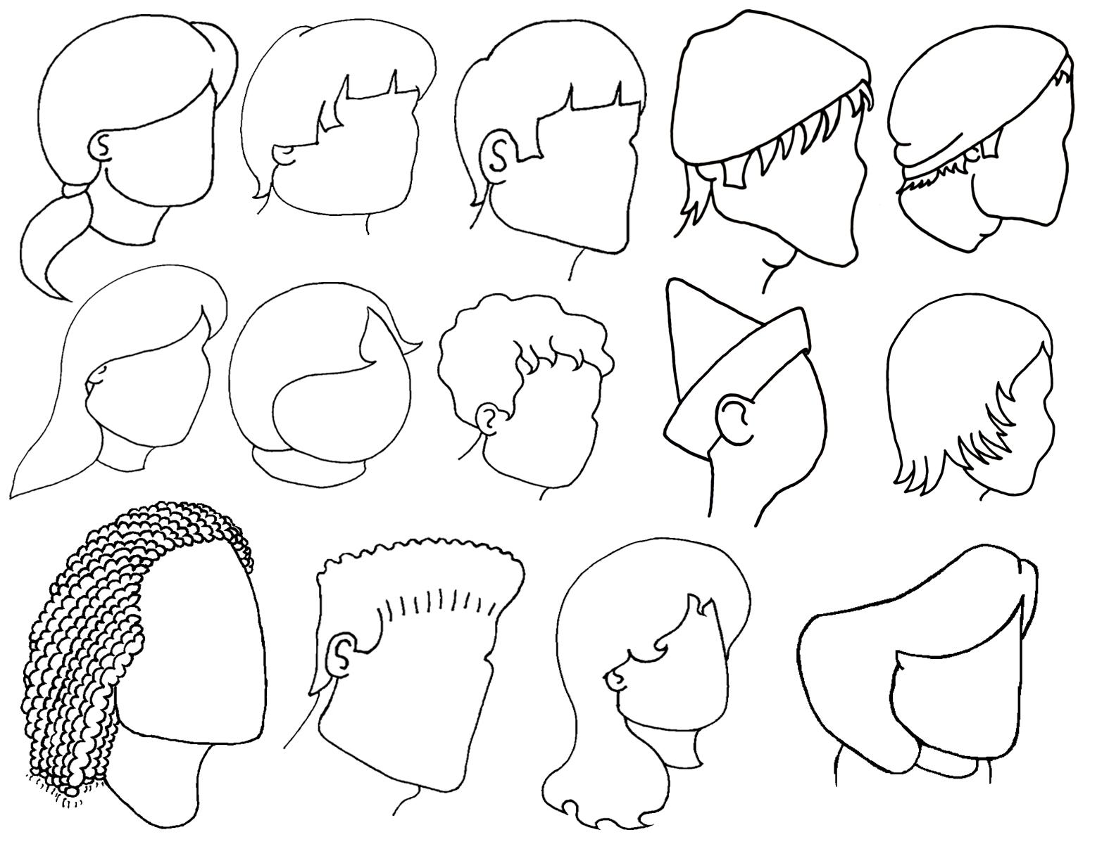profile cartoon faces